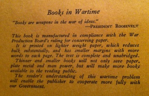 Books in Wartime